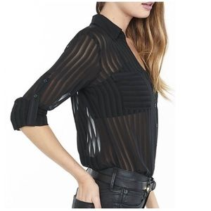 Express sheer stripe portofino